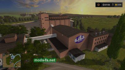Завод на карте в FS 17