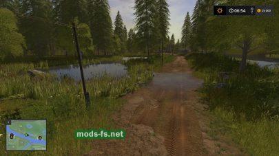 Карта с грязью для игры FS 17