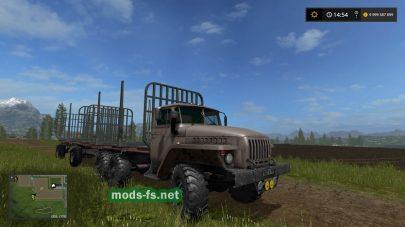 Мод грузовика УРАЛ для лесозаготовки