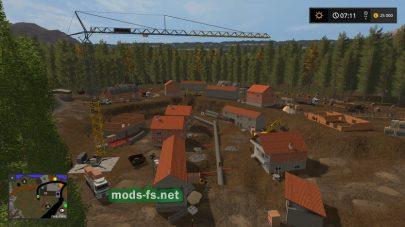деревня в игре FS 17 на «Sambreville»
