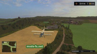 Самолет на карте Green Valley