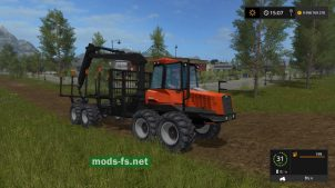 Мод трактора Valmet 840 Forwarder