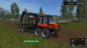 Мод трактора Valmet 840 Forwarder
