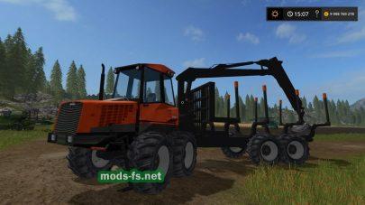 Трактор Valmet 840 с манипулятором