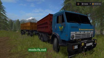 Мод на КамАЗ-55102 с прицепом