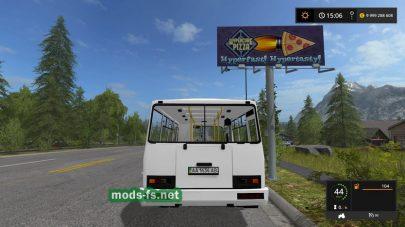 Автобус ПАЗ-3205 в игре FS 2017