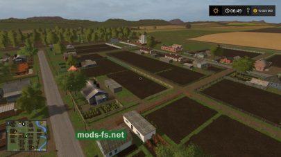 Деревня с огородами в игре FS 2017