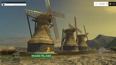 Мельницы в игре Farming Simulator 2015