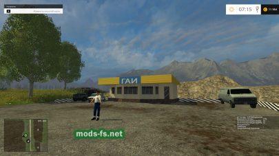 ГАИ в игре Farming Simulator 2015