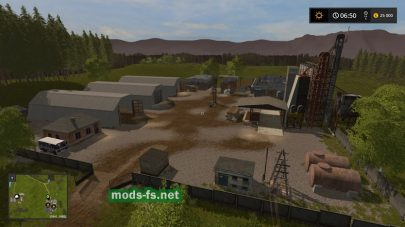Территория со складами в игре Farming Simulator 2017