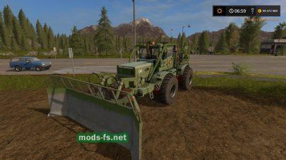 Мод трактора K701A с отвалом