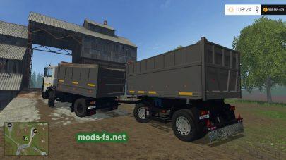 МАЗ с прицепом для Farming Simulator 2015