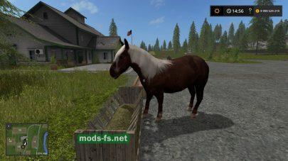 Конь в игре для Farming Simulator 2017