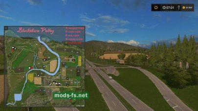 Схема карты Blackthorn Valley