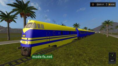 Скорый поезд в игре FS 17