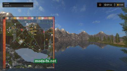 Схема карты Bergsee