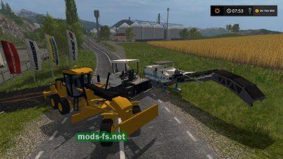 Мод машины для асфальта в игре Farming Simulator 2017
