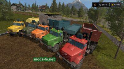 Пак грузовиков kraz для FS 17