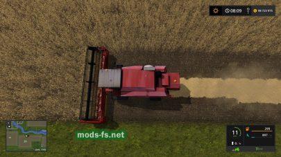 Комбайн КЗС-7 в игре Farming Simulator 2017