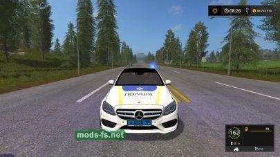 Полицейский Mercedes в игре FS 2017
