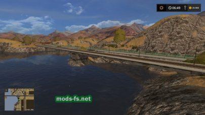 Карта с рекой в игре FS 2017
