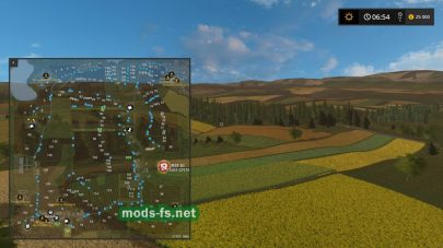 Схема карты «Wschodnia Dolina»