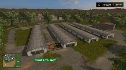 Коровники в игре Farming Simulator 2017