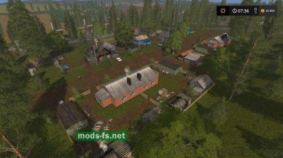 Русская деревня в игре Farming Simulator 2017