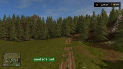 Карта с большим лесом для игры FS 2017