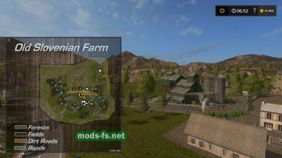 Схема карты «OldSlovenianFarm»