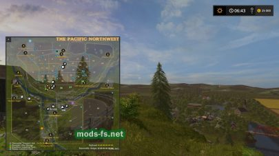 Схема карты «ThePacificNorthwest»