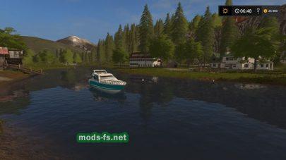 Карта с озером в игре FS 17