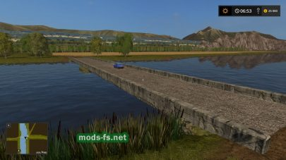 Мост через реку на русской карте в FS 17