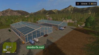 Теплицы в игре Farming Simulator 2017