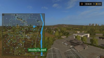 Схема карты «FarmTownDvaz»