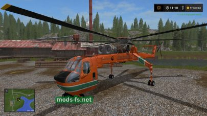 Вертолет для перевозки бревен в FS 2017