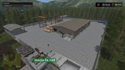 Игровая карта с колхозом для игры FS 17
