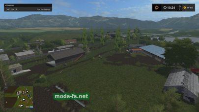 Карта с болотом и грязью в игре FS 17