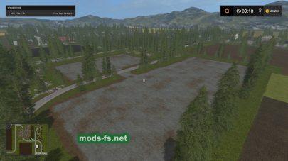 Карта с разнообразным ландшафтом Farming Simulator 2017