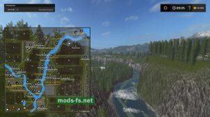 "Схема карты ""RiverPineAcresRUS"""