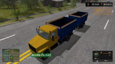 Грузовик ГАЗ-3309 «Добрыня» в игре Farming Simulator 2017