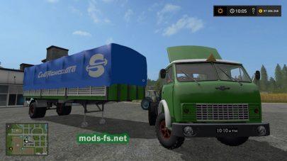 МАЗ-93801 и МАЗ-504 в игре FS 2017