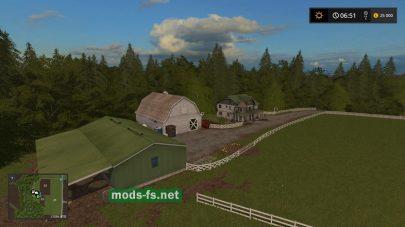 Реалистичная игровая карта для Farming Simulator 2017