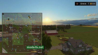 Схема карты Lone Oak Farm