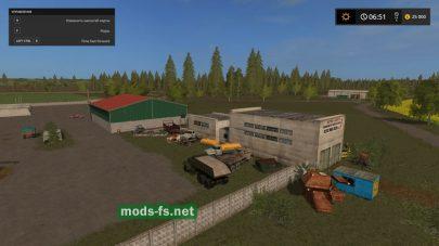Склад старой техники в игре Farming Simulator 2017