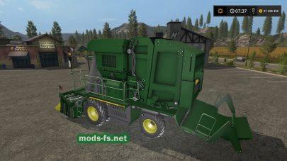 Скриншот мода комбайна «JohnDeere7760»
