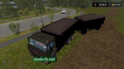 Мод грузовика КамАЗ-53212 с прицепом