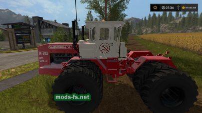 Скриншот трактора КировецK710 в игре Farming Simulator 2017
