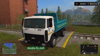 Скриншот мода «FS17 MAZ 5551»