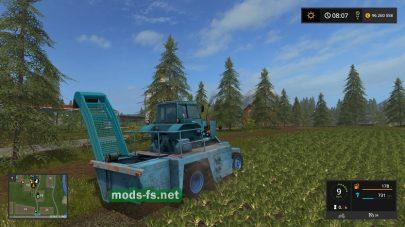 Мод комбайна для уборки свеклы в игре Farming Simulator 2017